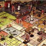 Ein aufgebautes Spielfeld