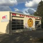 Außenwerbung Profilbuchstaben und Schilder axxa Prüfstelle Berlin Biesdorf