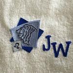 Stick auf Handtuch (10,8 x 7,4 cm mit 12.671 Stichen: 1,50 + 13 x 1,20 =17,10 € brutto)