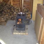 冬はやっぱり薪ストーブで