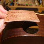 Loch in Gitarre ausbessern, reparieren, Loch in Gitarrenkorpus füllen, Gitarre hat Loch.. was tun ? Fabiani Guitars 75365 Calw