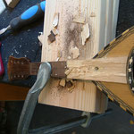 Halsbruch Gitarre reparieren, Kopfplatte Gitarre reparieren, Reparatur Gitarre Kopfplatte / Headstock, Fabiani Guitars 75365 Calw, Rennigen, Leonberg, Nagold, Herrenberg, Weil d. Stadt