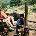 Beim Elefantenritt
