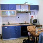 Die Küche unserer Wohnung in Brindisi