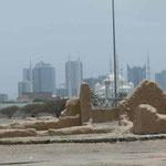 Blick vom Fort auf Fujairah Stadt