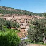 Blick zurück auf's Dorf