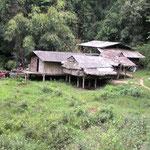 unsere Unterkunft am Ende des Dorfes