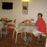 Frühstück in Matera