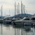 daneben Boote aller Preisklassen