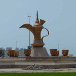 Coffee-Pot-Roundabout direkt am Hotel