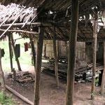 der Eingang der Kochhütte