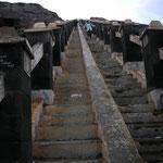 Letzte Hürde, die steile Treppe