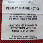 30,- Pfund Geldstrafe bei sofortiger Zahlung