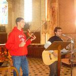 Damien et Mehdi animent un dimanche de rentrée paroissiale
