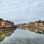 L'Arno passant per Pisa