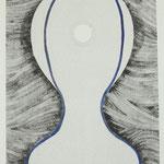 """Solitude = freedom"" met bladgoud - 30 x 42 cm"