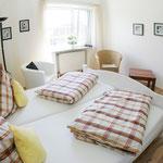 Ein Gästezimmer der Pension vom Garbers Hof