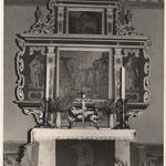 Der historische Altar der St. Magdalenen Kirche in Undeloh ca. Ende der 50er Jahre