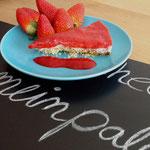 Paleo Cheesecake mit Erdbeermark
