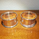Paar Serviettenringe England Sterling Silber 925er