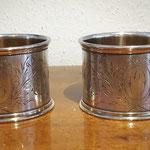 Paar schwere Serviettenringe aus 800er Silber ca. 1910
