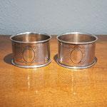 Paar runde Serviettenringe 800er Silber Jugendstil L&W