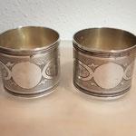 Paar Jugendstil Serviettenringe Frankreich 950er Silber
