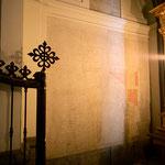 Plano de la construcción encontrado durante la reforma en una capilla lateral