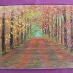 Nr 8, Herbstwald, Kreide, 24 * 32 cm