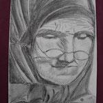 Nr 19, Grossmutter, Bleistift, 19 * 28.5 cm