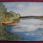 Nr 38, Moorsee, Aquarell, 30 * 40 cm
