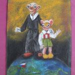 Nr 10, Spejbl and Hurvinek, crayon, 26.5 * 24 cm