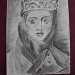 Nr 2, Noblewoman, pencil, 24 * 32 cm