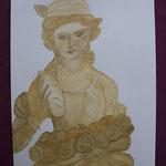 Nr 18, Heilige Elisabeth, Aquarell, 24 * 32 cm
