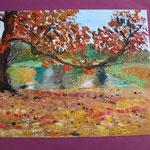 Nr 4, Herbst, Spachteltechnik, Öl, 30 * 40 cm