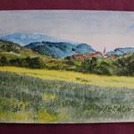 Nr 47, Landschaft, Aquarell, 24 * 32 cm