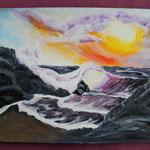 Nr 34, Waves, acryl, 30 * 40 cm