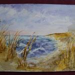 Nr 40, Seenlandschaft, Aquarell, 30 * 40 cm