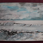 Nr 30, Strand, Aquarell, 30 * 40 cm