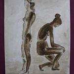 Nr 28, Frauen im Bad, Aquarell, 24 * 32 cm
