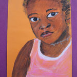 Nr 11, Afrikanisches Mädchen, Kreide, 19.5 * 29.5 cm