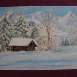 Nr 5, Winterlandschaft, Öl, 30 * 40 cm