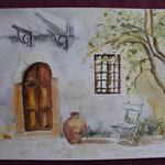 Nr 32, Toskanisches Haus, Aquarell, 30 * 40 cm