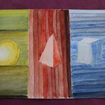 Nr 14, konkrete Kunst, Aquarell, 24 * 32 cm