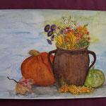 Nr 31, Herbststilleben, Aquarell, 30 * 40 cm