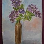 Nr 21, Fliederstrauss, Aquarell, 30 * 40 cm