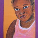 Nr 11, African girl, crayon, 19.5 * 29.5 cm