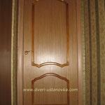 Фото 1.5. Установка одностворчатой межкомнатной двери в спальне (вид из комнаты). Общий план.