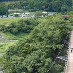 八橋小道ラブロマンスロード(約1時間)というコースを選びましたが、吊り橋はちょっと苦手。