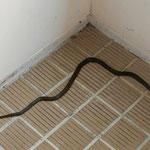 夏のある日、階段に1メートル50くらいの蛇さんがいました。マムシではなさそうなので、落ち着きましょう。